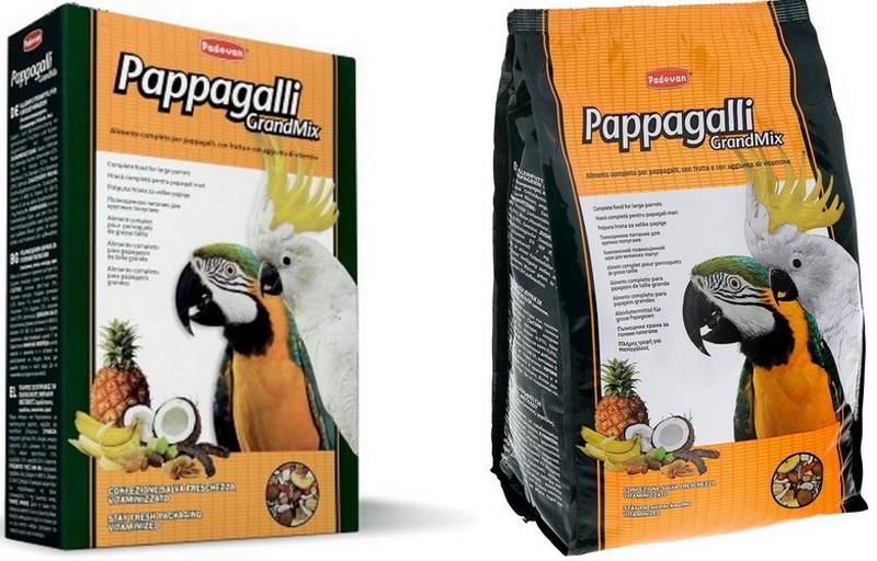 Корм GrandMix Pappagalli для крупных попугаев